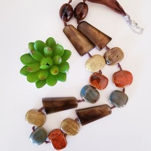 Jewelry - Natural Ceramic Stone Necklace